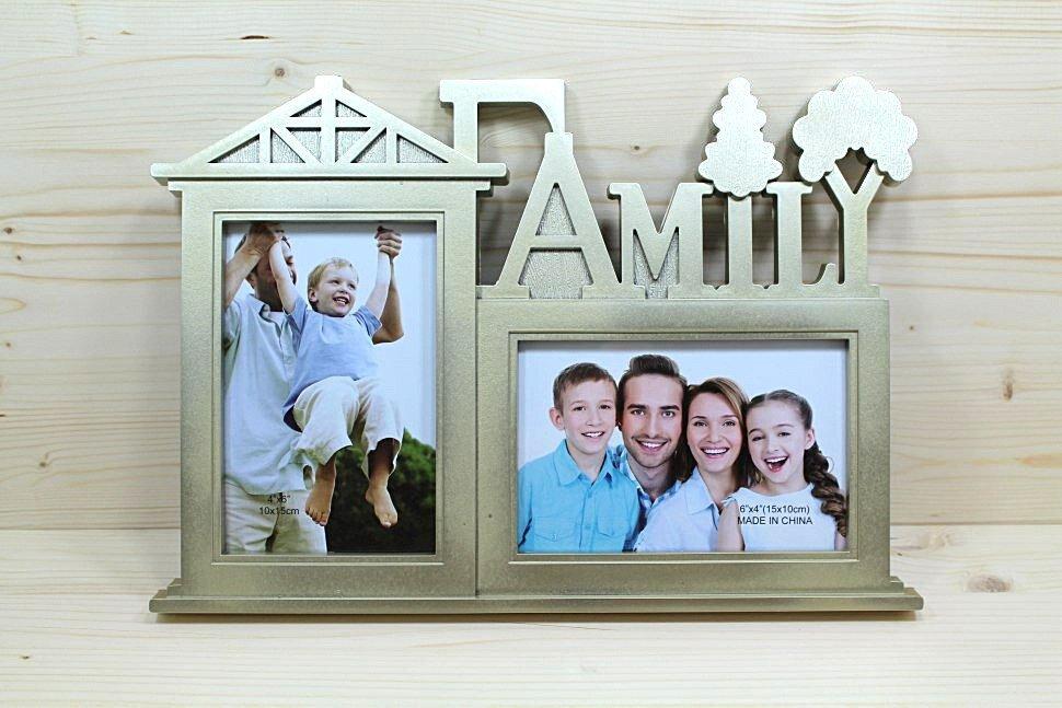 даже рамка на два фото семья отмечают
