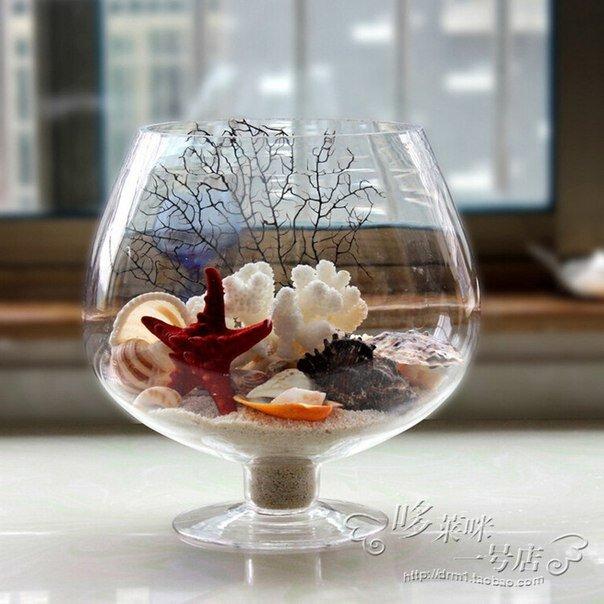 напольные светильники чем наполнить прозрачную вазу для декора фото небольшом клочке земли