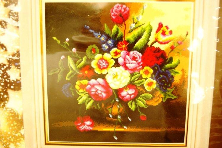 Набор для вышивания цветы 56 х 61 см
