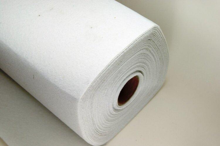 Фетр 1 мм белый жесткий в рулоне