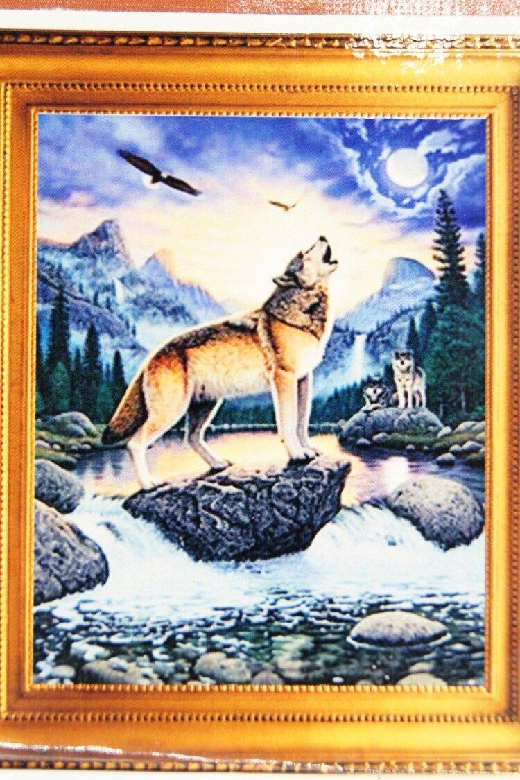 Набор алмазная мозаика 46х36см волк